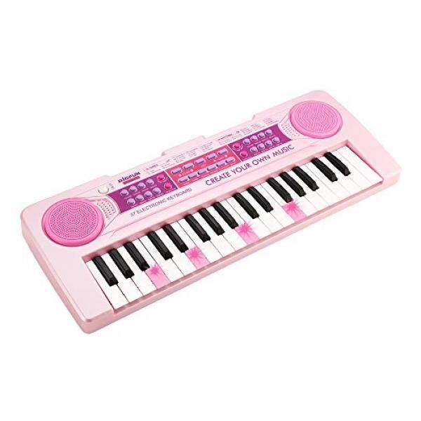 Chargable Kids Piano,aPerfectLife 37 Keys Multi-function Charging Electronic Kids Piano Keyboard Educational Toy Organ for Toddlers Kids Children (Pink) ...