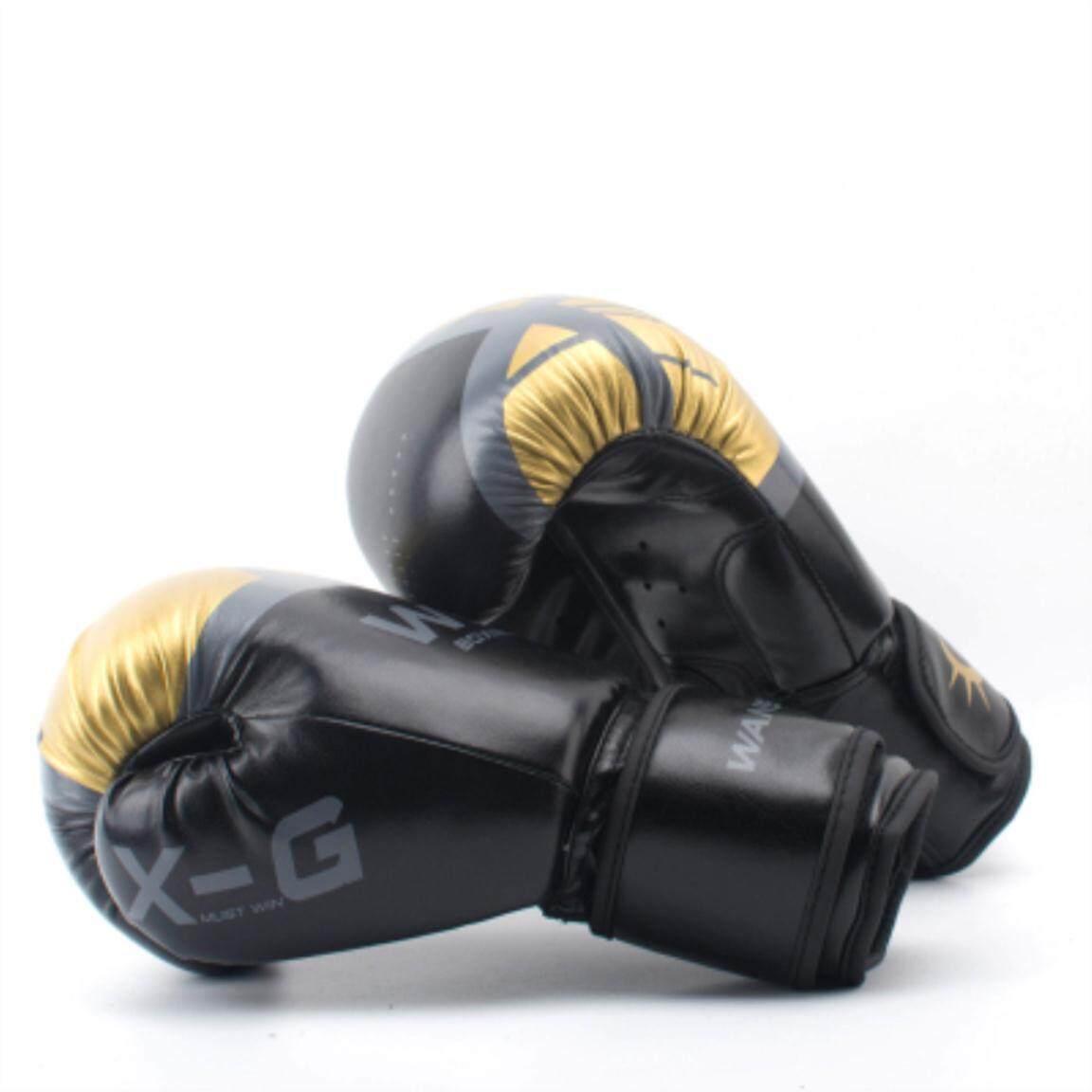 Hitam/Merah Muda/Emas Pria/Kulit PU Wanita Sarung Tangan Tinju untuk Tas Pasir Training MMA Muay Thai Sanda Karate Sarung Tangan Peralatan
