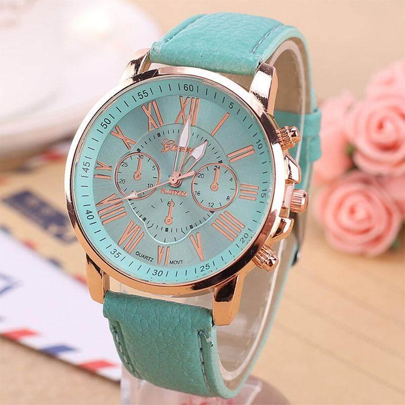 Classic Fashion Geneva Roman Numerals Watch Wristwatch Quartz Watches Malaysia