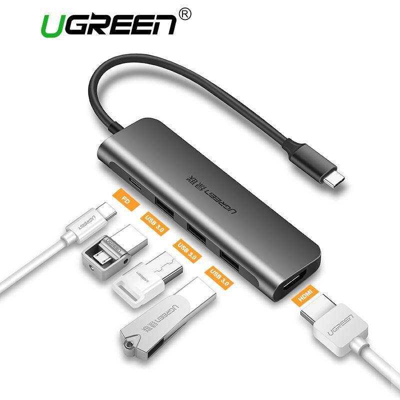 UGREEN (HDMI Version) USB C Hub, USB TYPE C 3.1 Adapter Dock with 4K HDMI Port, 3 USB 3.0 Ports, 60W USB C PD Charge Port for MacBook Pro 2017 2016, Dell XPS 15 13, HP Spectre/Envy, Huawei mate 10/P20, Samsung Galaxy S9 S8