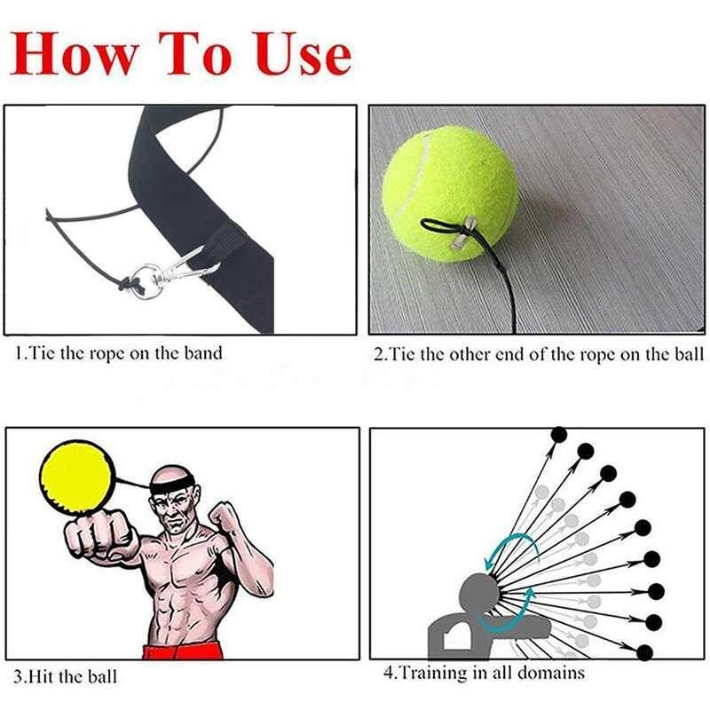 Hình ảnh Burstore Fight Ball Boxing Reflex Reaction Speed Training Boxing Punch Combat Muscle Thai Trainer - intl