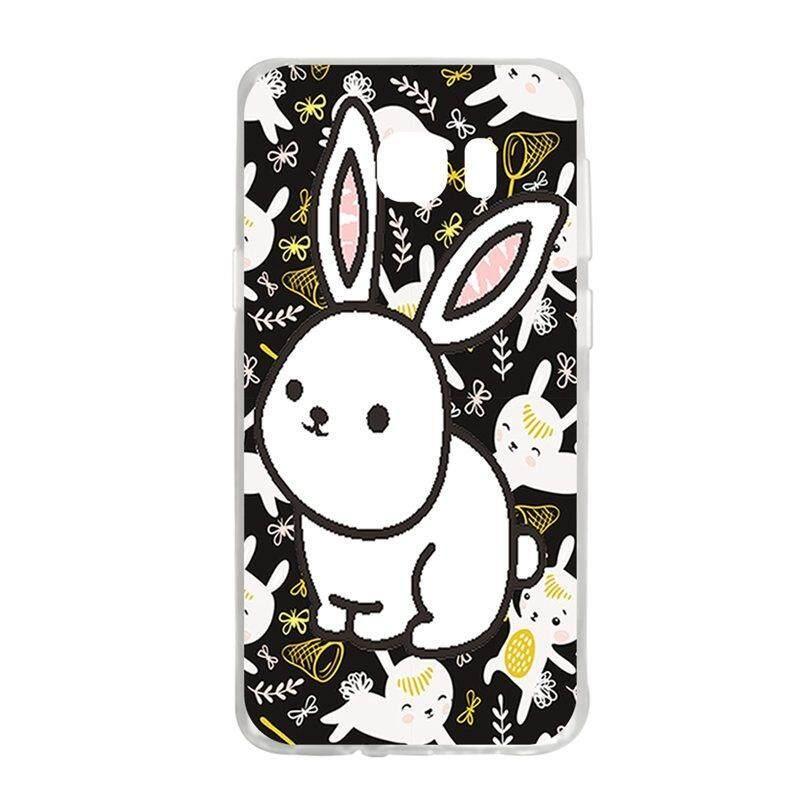 White Rabbit TPU Soft Silicon Phone Case Cover For Samsung Galaxy S6 Edge