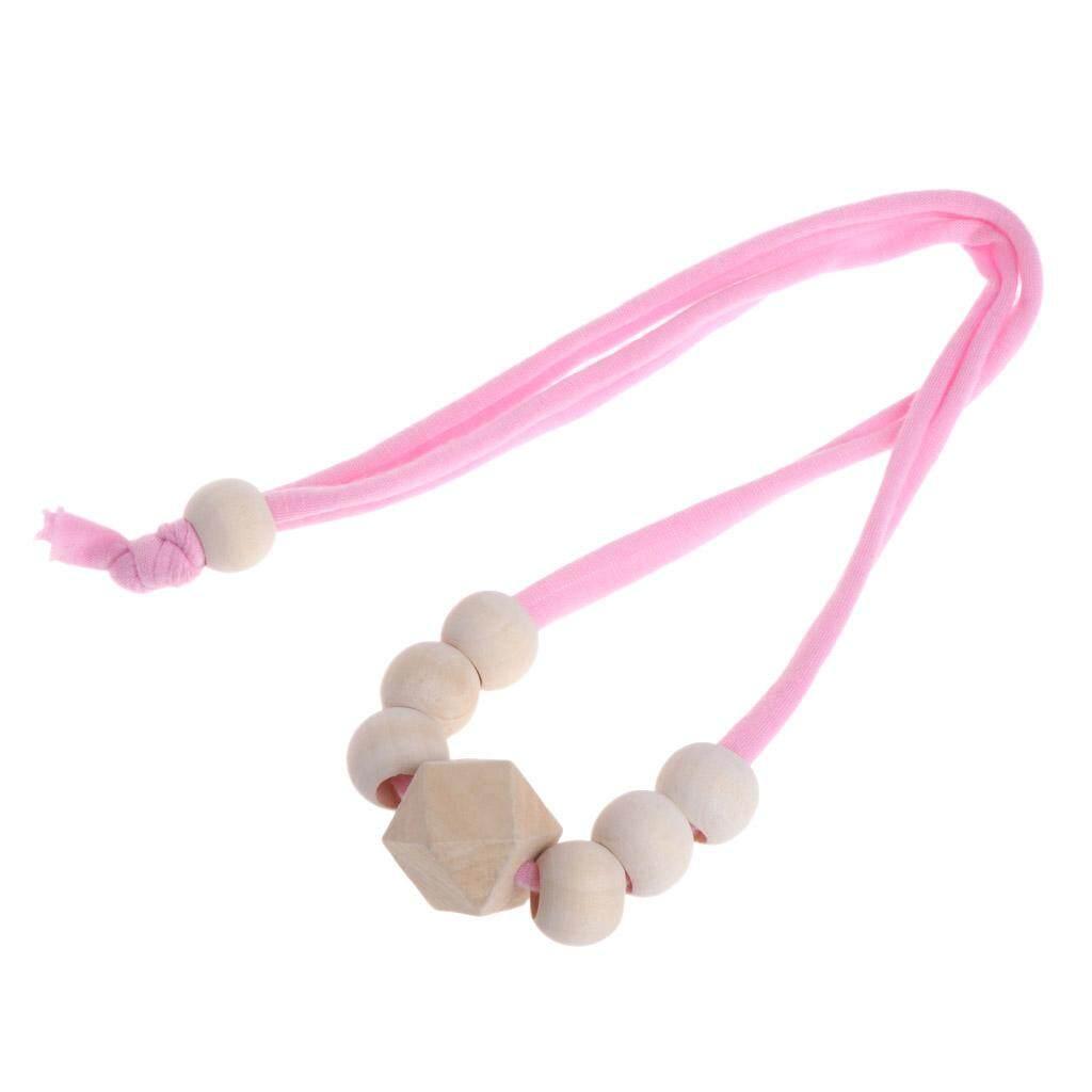 Tumbuh Gigi Kayu Alami Kalung Bayi Bayi Anak-anak Ibu Alat Gigit Kayu Mainan Perhiasan