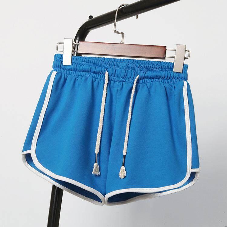 Celana Pendek Olahraga Yoga Luas Kaki Celana Pendek Celana Pantai (kualitas Baik Pengiriman Cepat)-Intl By Dezhouqijiandian.