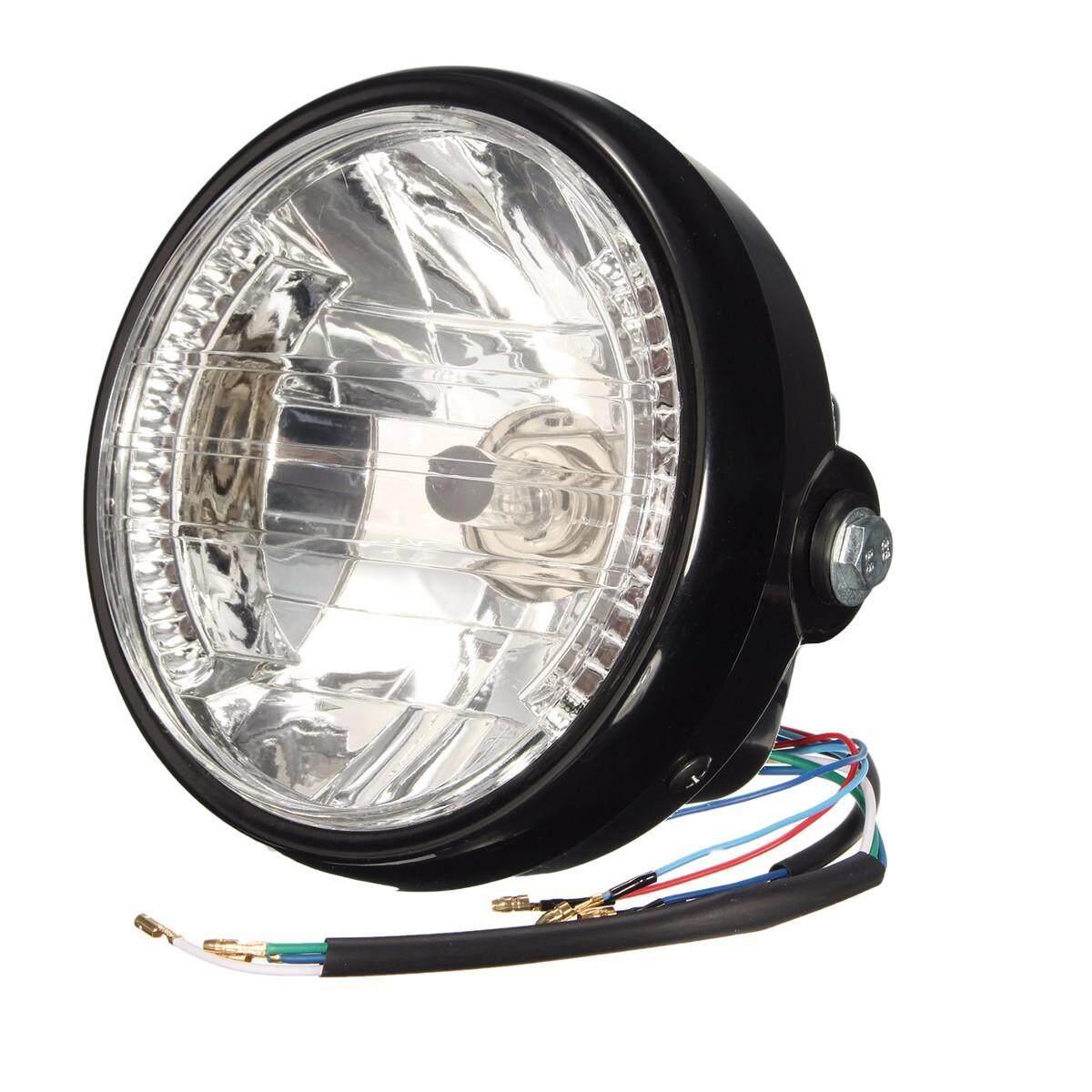 7 ''Sepeda Motor Bulat Lampu Hi/Lo Beam Lampu Kepala H4 Bohlam 12