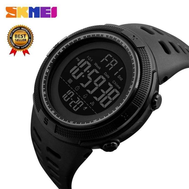 (100% Genuine) SKMEI1251 Mens Sports Watch Countdown Double Watch Alarm Digital Watch 50 Meter Waterproof Relogio Masculino Malaysia