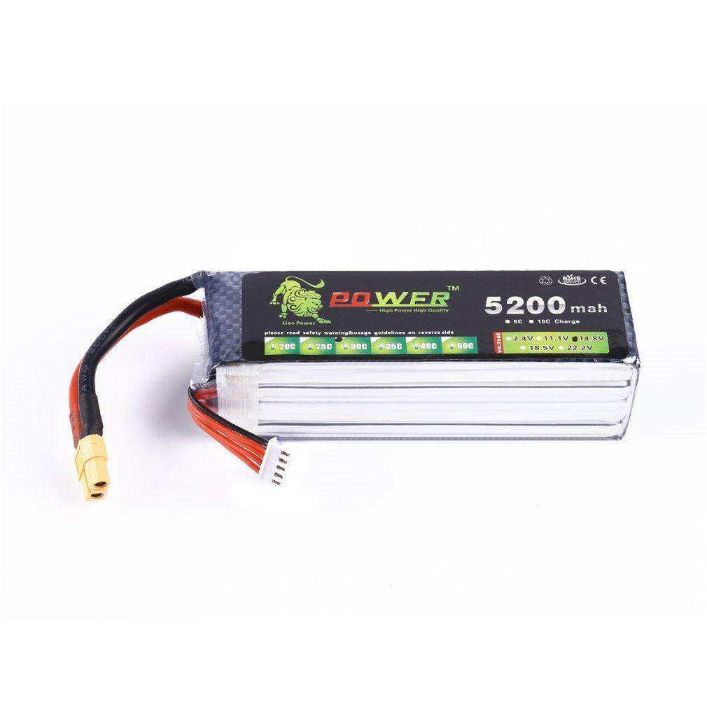 Hot Sales Lion Power Lipo 14.8V 5200mah 30C 4S1P Battery For F450 F550 Quadcopter