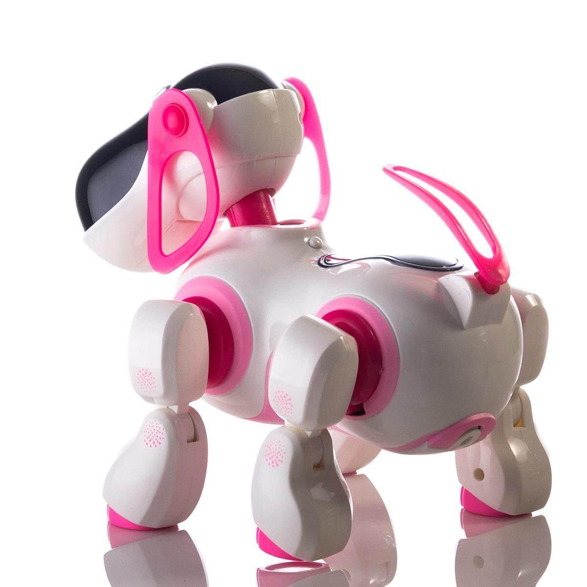RC Smart Cerita Robot Anjing Bernyanyi Menari Berjalan Berbicara Dialog Mainan Hewan Peliharaan .