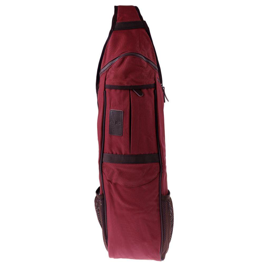 Miracle Shining Gym Sports Crossbody Sling Backpack Fitness Yoga Mat Bag Waterproof Red