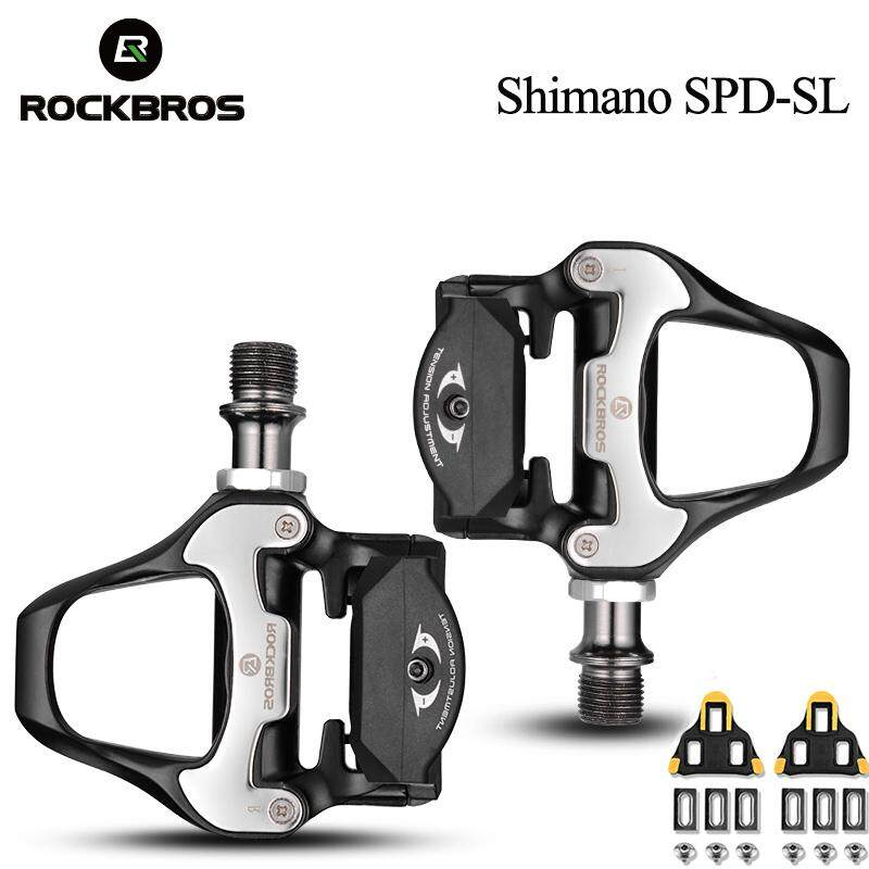 Rockbros Road Bike Self-Lock Pedals With Shimano Spd-Sl Or Look Keo Cleat 2 Sealed Bearing Cr-Mo Steel Axle Pedals By Rockbros Store.