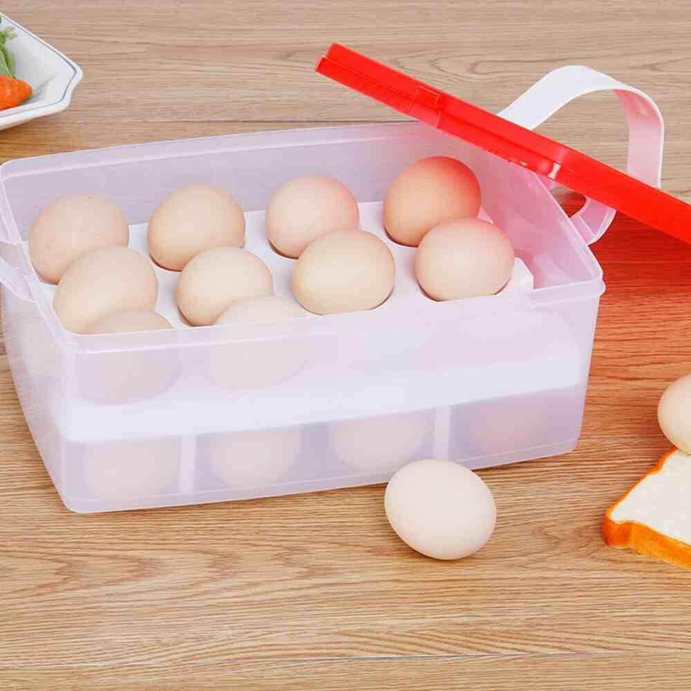 Dsan Plastik Telur Dapur Kotak Penyimpanan Kulkas Pengelola 24 Tempat Penyimpan Telur