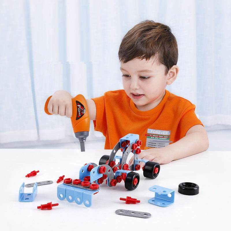 280 Pieces Take Apart Toys DIY Construction Building Toy with Electric Drill Gift for Children Girls Boys