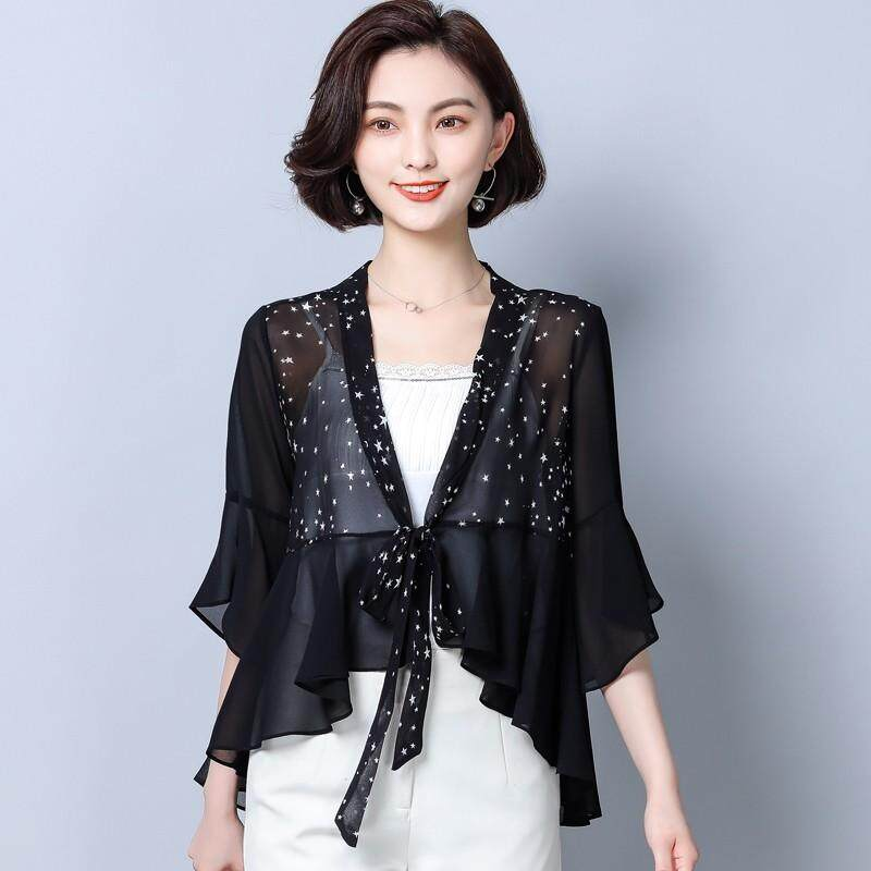eedff71df7 CHENWEN 2018 Womens Tops And Blouses Chiffon Shirt Sun Protection Clothing Women  Blouse Shawl Female Beach