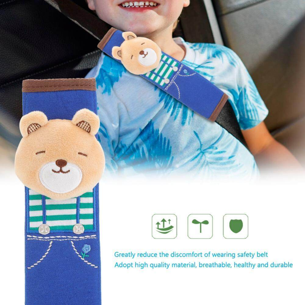 Kids Lovely Cartoon Animal Car Safety Belt Cover Soft Children Protection Shoulder Pads(bear) - Intl By Globedealwin.