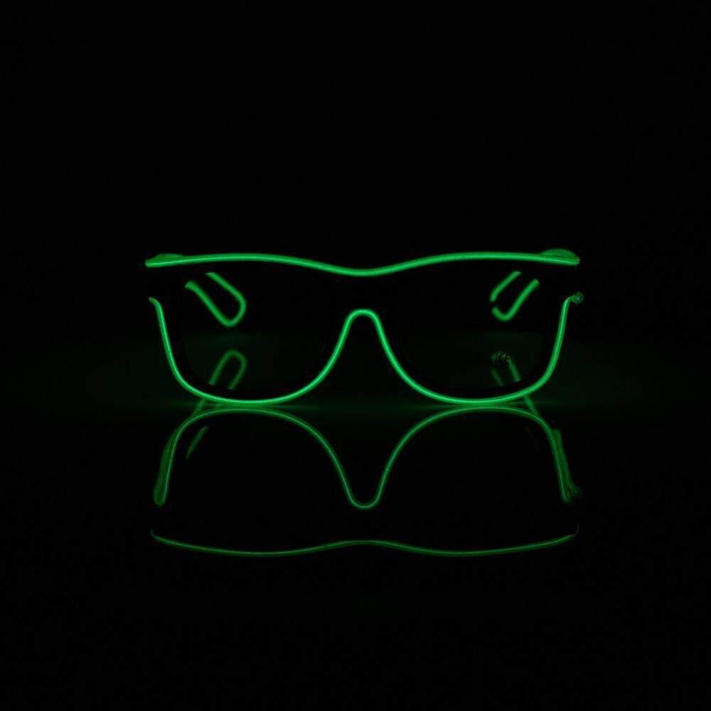 Standar Hitam Lensa LED Bersinar Kacamata El Wire LED Neon Dingin Kacamata Ringan Glow Activing DJ Terang Kacamata Props-Intl