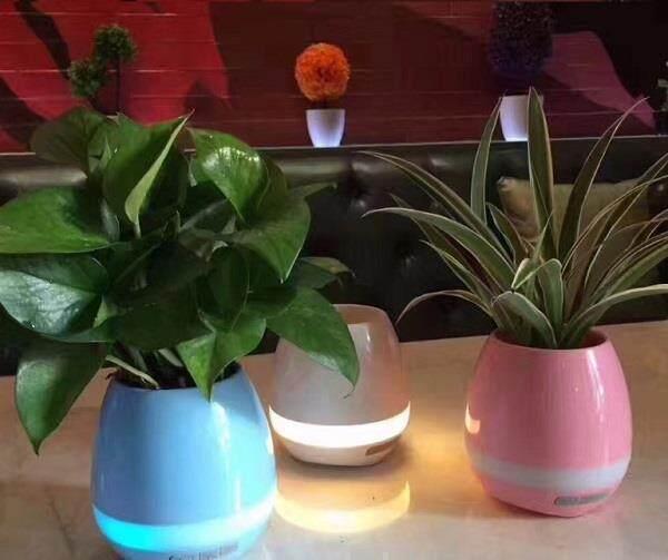 INTELLIGENT TOUCH MUSIC PLANT BLUETOOTH SPEAKER LED FLOWERPOT