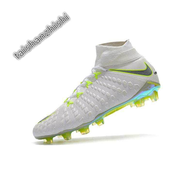 37c71a096017 High Ankle Football Boots Hypervenom Flare Football Shoes Adulto Men's Soccer  Shoes Original Futebol Training Sneakers