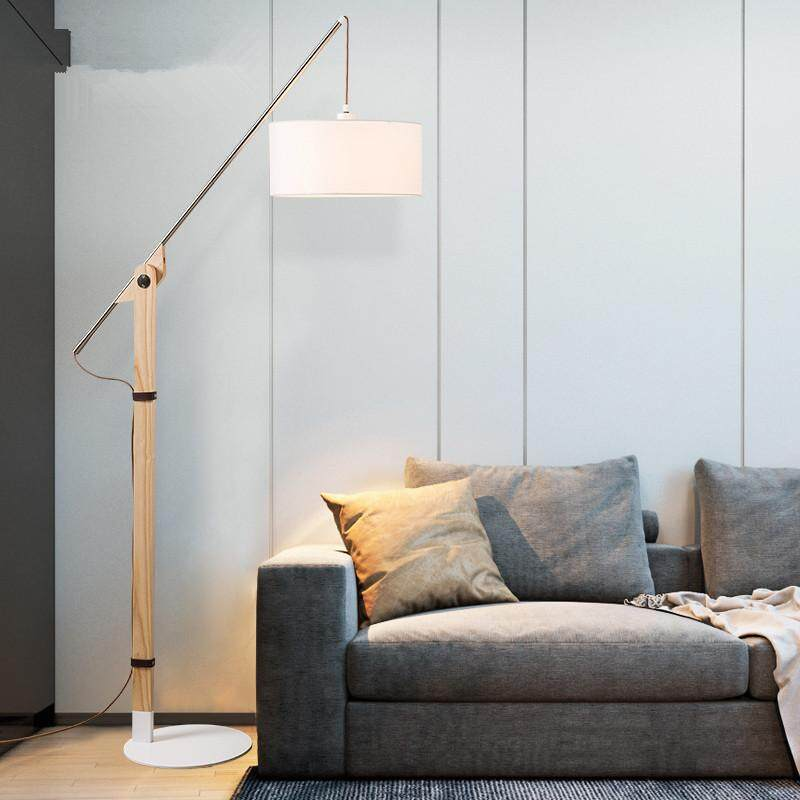 Nordic Fishing Light Floor Lamp. Living Room Sofa Bedroom Bedside Study Minimalist Modern Japanese Style Desk Lamp, Fashion Floor Lamp. By Dongpeng.