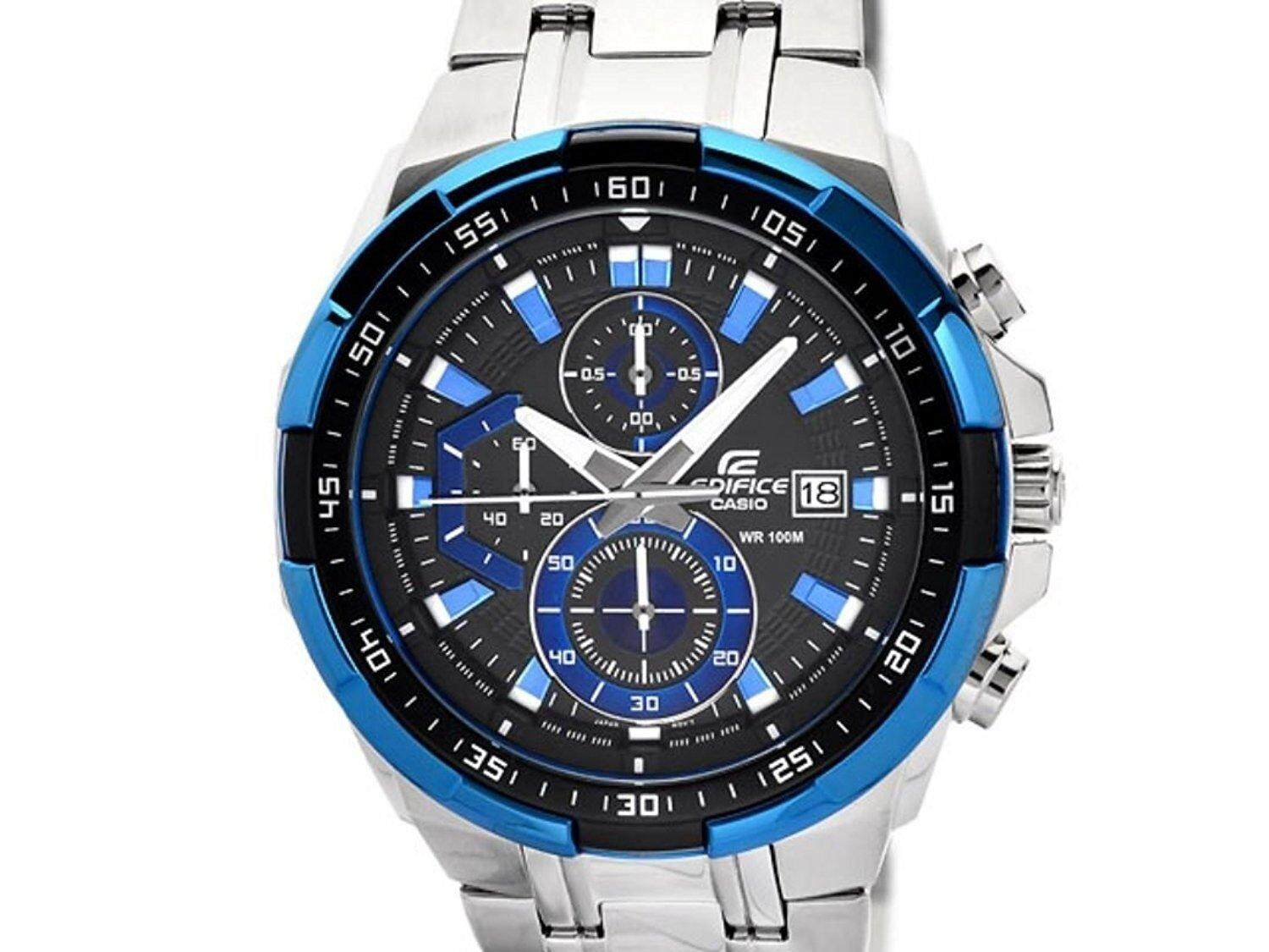 Mega Brand Sale (CASIO EDIFICE 5345 Blue DialLimited Time Promotion)