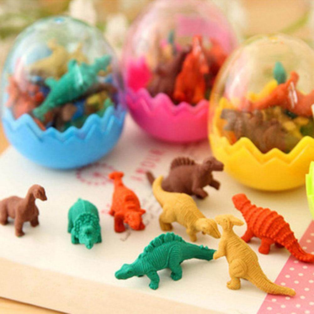 Novelty Dinosaur Egg Pencil Rubber Eraser Students Office Stationery Kid Toy (random Color) By Darahry.