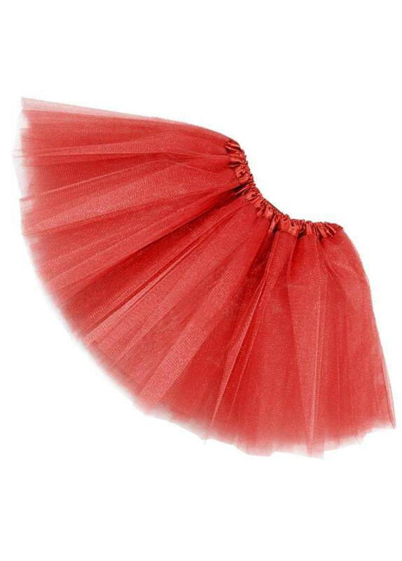 Women/adult Organza Dance Wear Tutu Ballet Pettiskirt Princess Party Skirt Red By Lapurer.