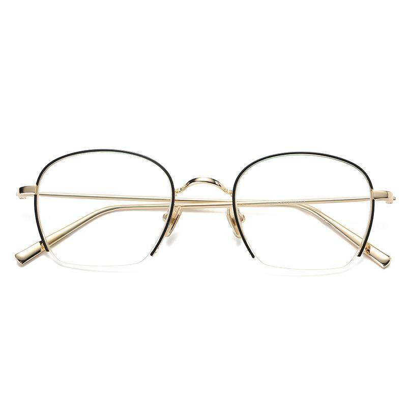 63c775e7519 Glasses Frame women Korean Style Fashion Metal Vintage And Wire-Rimmed round  Face yan jing