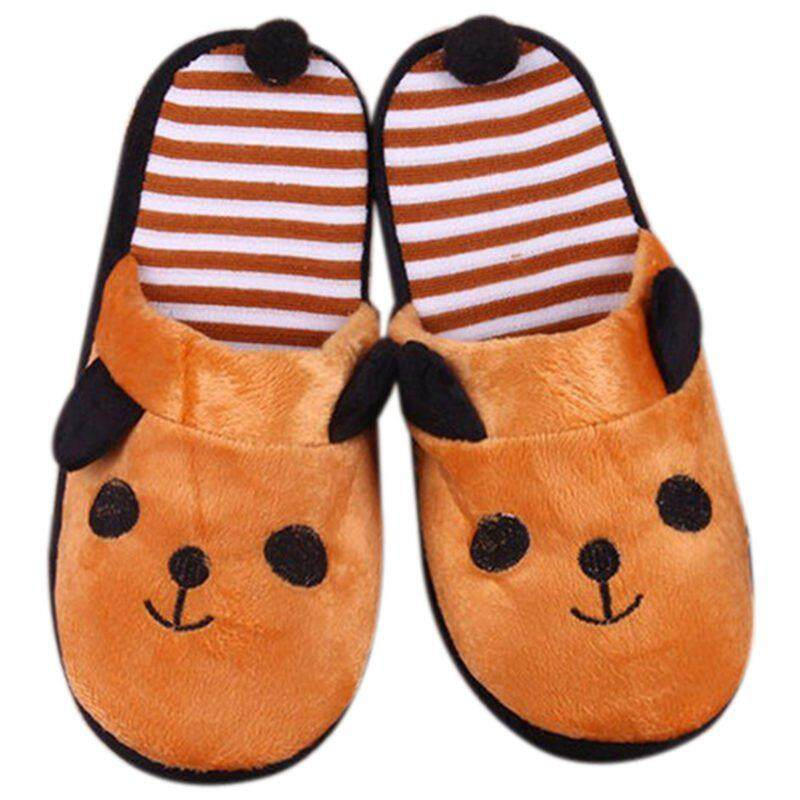 Cute Women Coral Velvet Panda With Tail Slippers Soft Nonslip Shoes Home Indoor Shoe, Women's