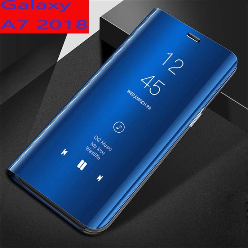Giá Dành cho Samsung Galaxy Samsung Galaxy A7 2018 Gương Thông Minh Bao da Flip Cover