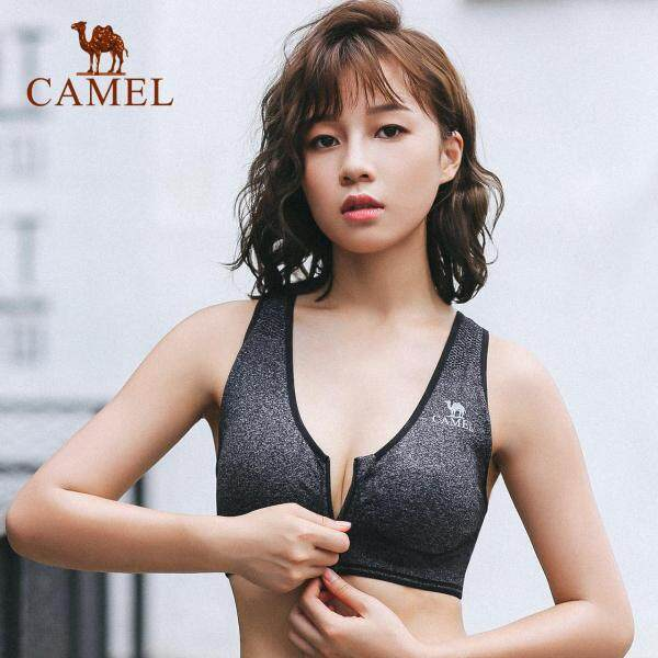 Camel women sports Bra shockproof running gathering vest Yoga wireless fitness bra