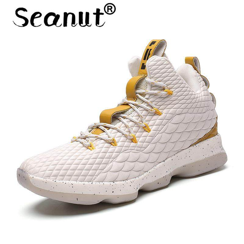 Seanut Basketball Shoes Men/Women Athletic Breathable Outdoor Sneakers Wear Resistant Non-slip Mid