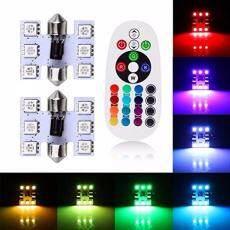 Sa Yanyi 36 Mm 6 SMD Warna-warni 5050 RGB Hiasan LED Lampu Bentuk Kubah