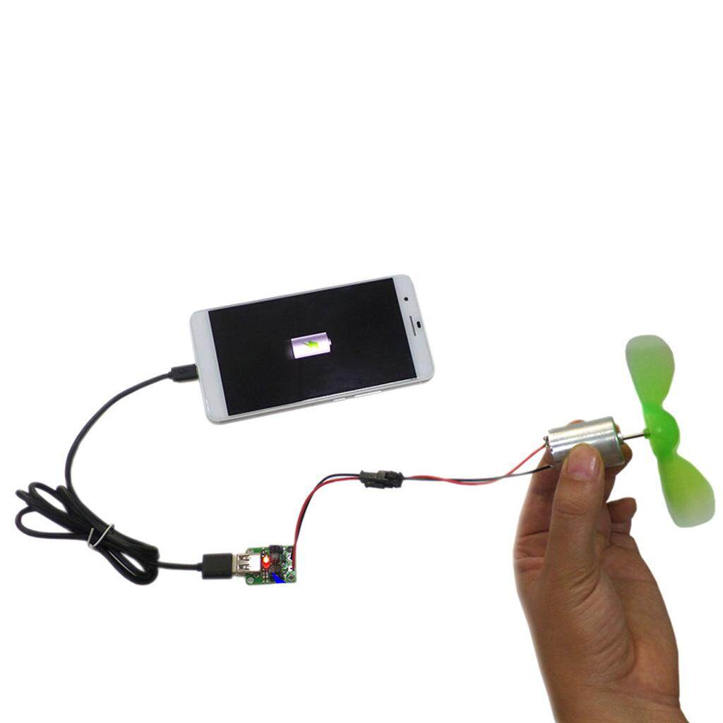 Fitur Charger Hp Arus Aki Motor Saklar On Off 5in1 3usb Usb Fast Fityle Portable Diy Assembly Cellphone Mini Wind Generator Alternator