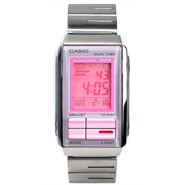 ... Jam Tangan Wanita - Pink Review Spesifikasi. Source · Casio Womens Futurist Metal Band LCD Watch Model LA-201W-4A2 - intl