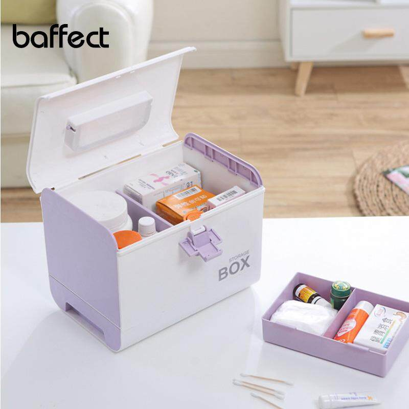 Medicine Box First Aid Kit Storage Box Plastic Container Emergency Kit Portable Multi-layer Large Capacity Storage Organizer - intl