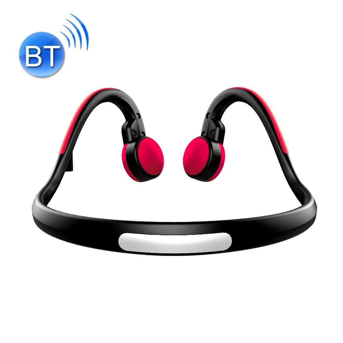 BT-BK Bone Conduction Bluetooth V4.1+EDR Sports Over the Ear Headphone Headset with Mic, For iPhone, Samsung, Huawei, Xiaomi, HTC and Other Smart Phones or Other Bluetooth Audio Devices(Red)