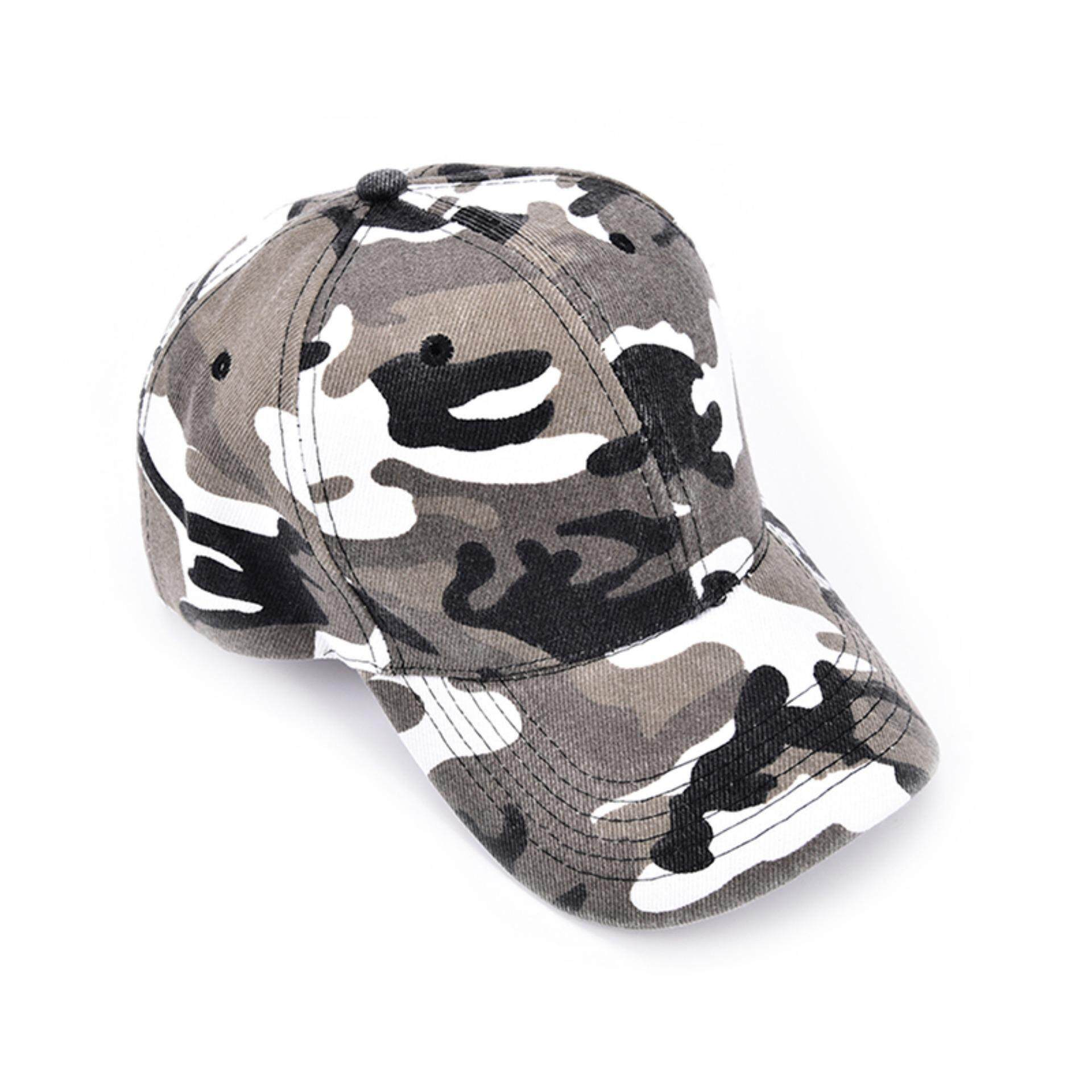 Outdoor Sports Retro Military Army Training hat Camouflage Baseball Tactical Cap Grey - intl