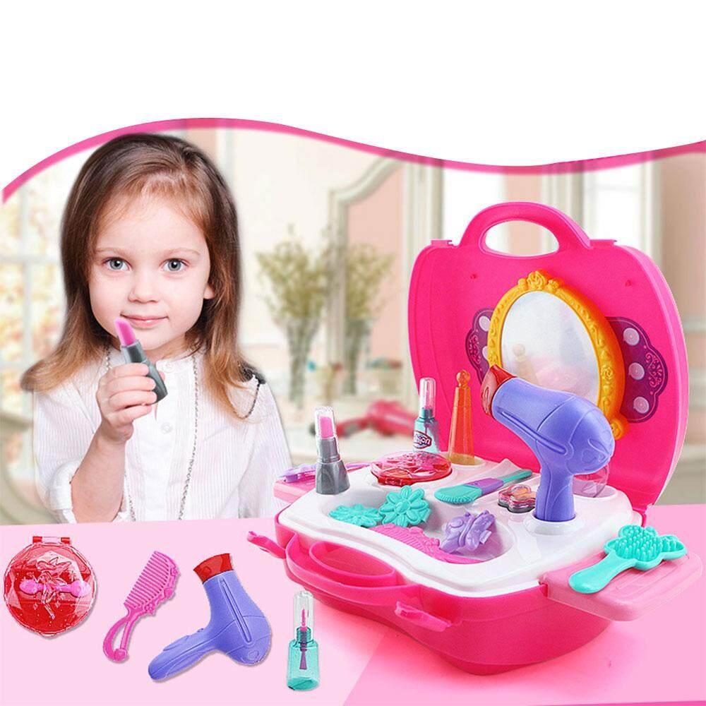 Hình ảnh Vishine Mall free shipping Simulation Makeup Cosmetic Bag Case Toys Set Kids Children Mirror Lipstick