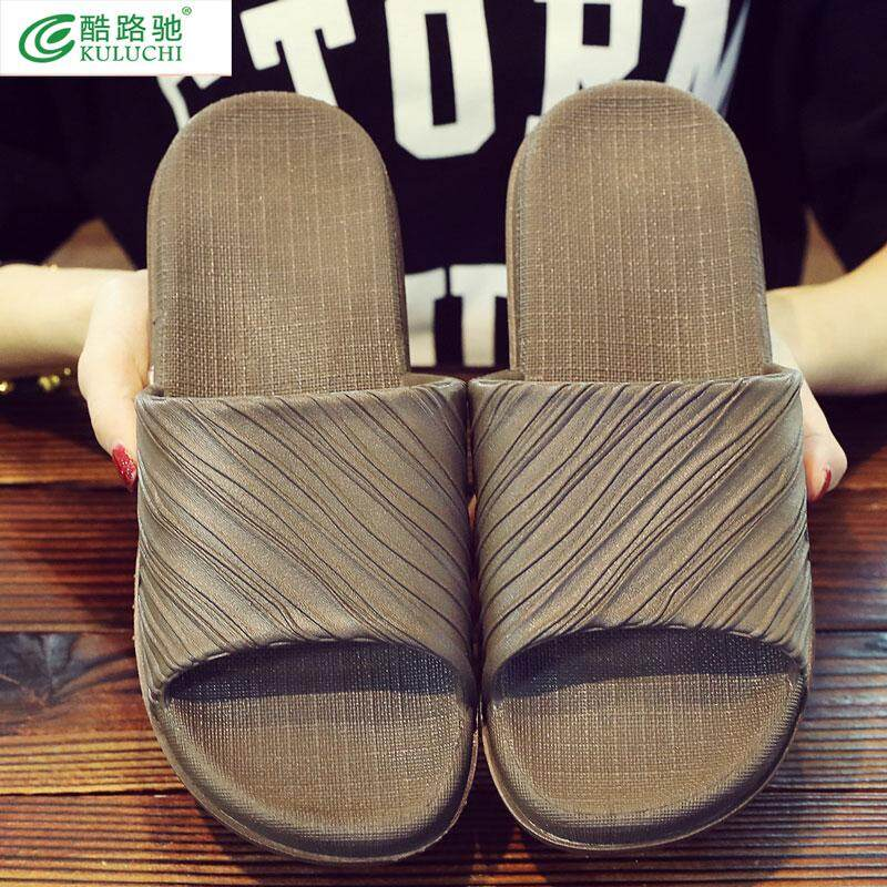 67aeb0410 Korean version of lovers slippers bathroom anti-skid household men s sandals  personality wear 100 slippers