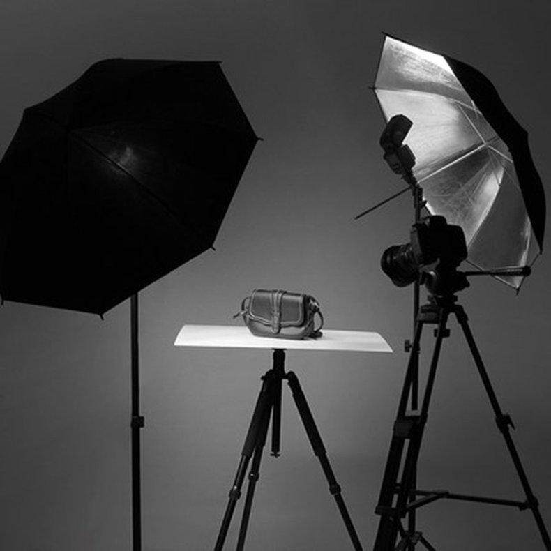 EVOL 83cm Studio Flash Light Grained Black Silver Umbrella Reflective Reflector