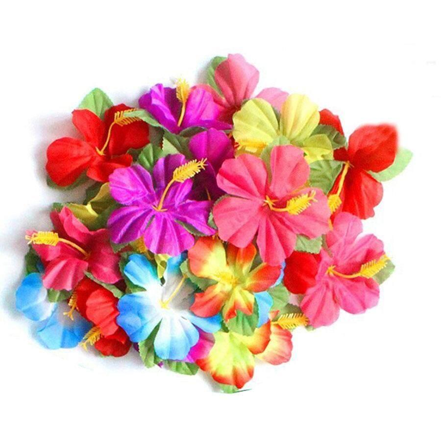 Features 72 Pcs Artificial Hibiscus Flowers 11 5cm Simulative