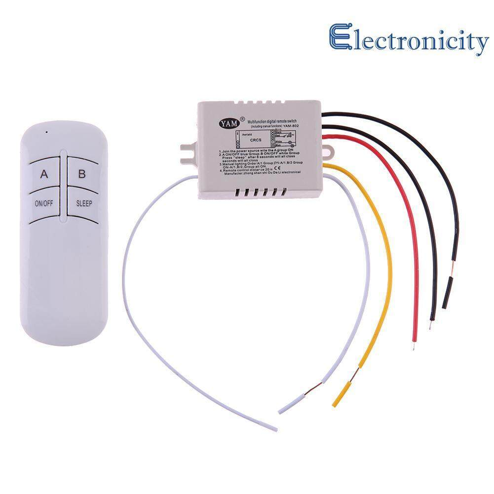 Home Electrical Circuitry Parts Buy Acrylic Switch Wiring Box 10 Wireless On Off 2 Ways 220v Lamp Remote Control Receiver Transmitter