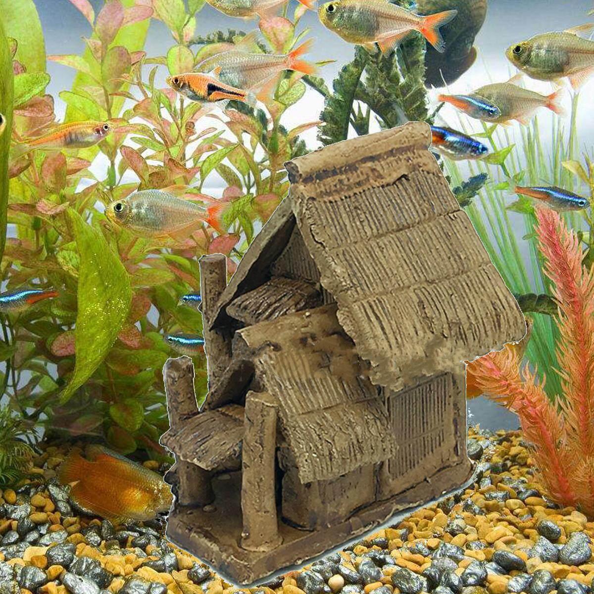Aquarium บ้านเซรามิกเครื่องประดับตู้ปลาถ้ำซ่อน Shelter Decor ภูมิทัศน์ - INTL