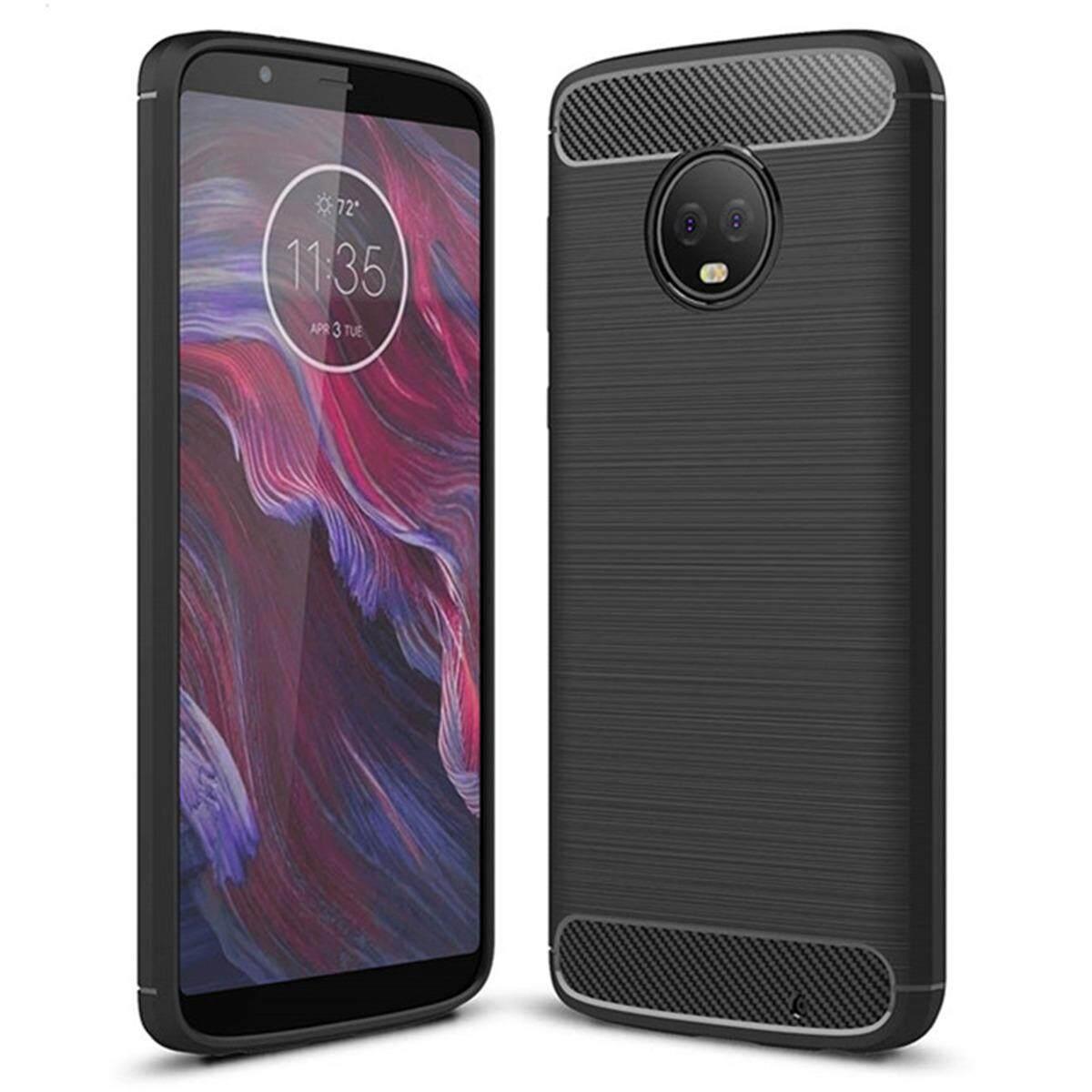 Hình ảnh for Motorola Moto G6 Plus Case Carbon Fibre Hairline Ultrathin Soft TPU Back Case Cover, Light, Minimalist, Non-slip, Shockproof, Anti-scratch