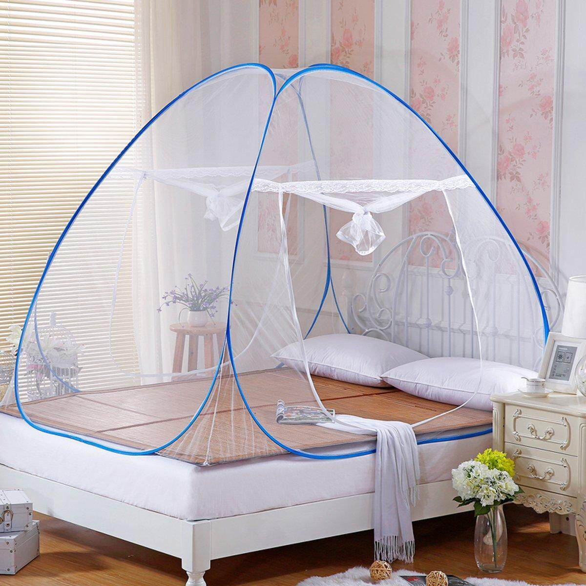 Easy Pop Up Fold Free Standing Automatic Tent Mosquito Netting Insect Protection  190 X 120 X 145cm By Glimmer.