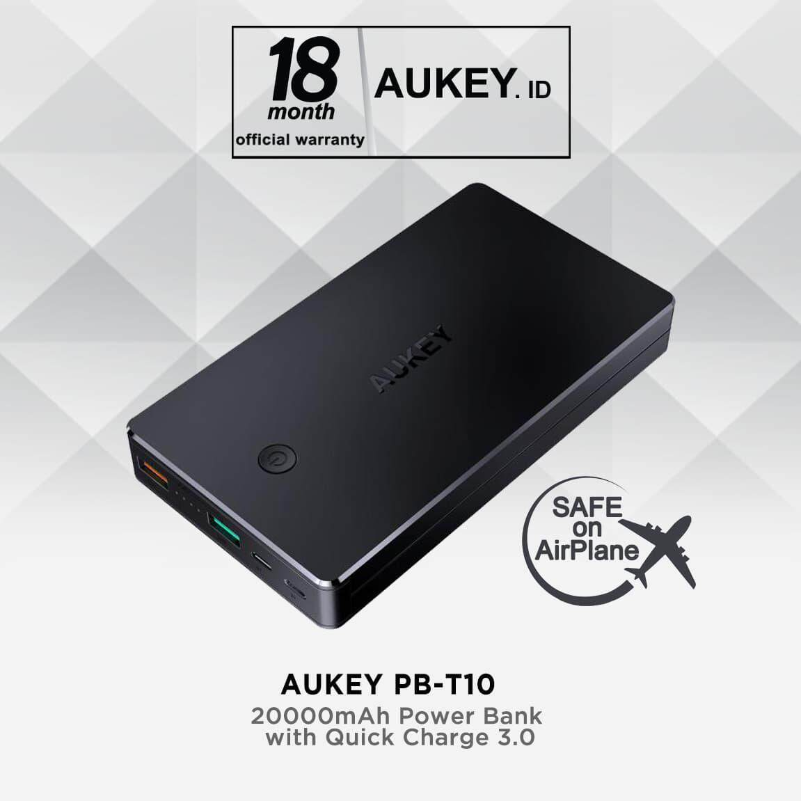 AUKEY PB-T10 V3 20000mAh Qualcomm Quick Charge 3.0 Powerbank support Lightning cable input (18 MONTHS WARRANTY)