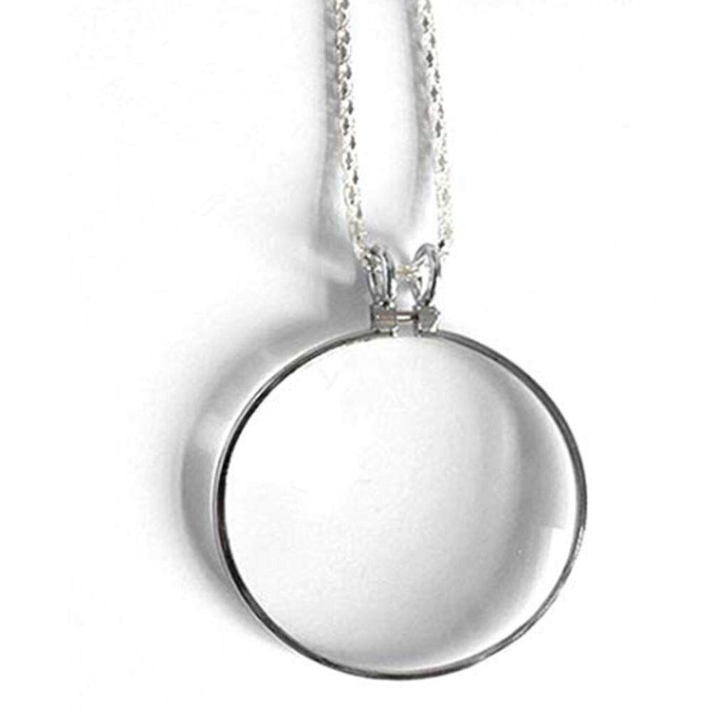 Fancyqube 1PC Utility Monocle Lens Necklace With Magnifier Coin Magnifying Glass Pendant - intl