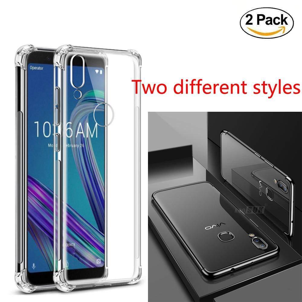 2 Pack untuk Vivo V11 V9 Oppo F7 F9 Huawei Nova 3i Xiaomi Pocophone F1 Menebal Air Cashion Casing Tahan Guncangan dan Sangat Tipis Plating Edge Penutup Belakang Case