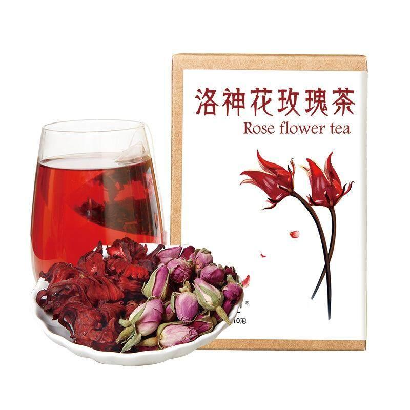 Taiwan Sumber Kesehatan Luo Shen Mawar Mawar Tea 30G Roselle Kombinasi Bunga Teh Buah Dicampur dengan Teh Herbal Segitiga -Internasional