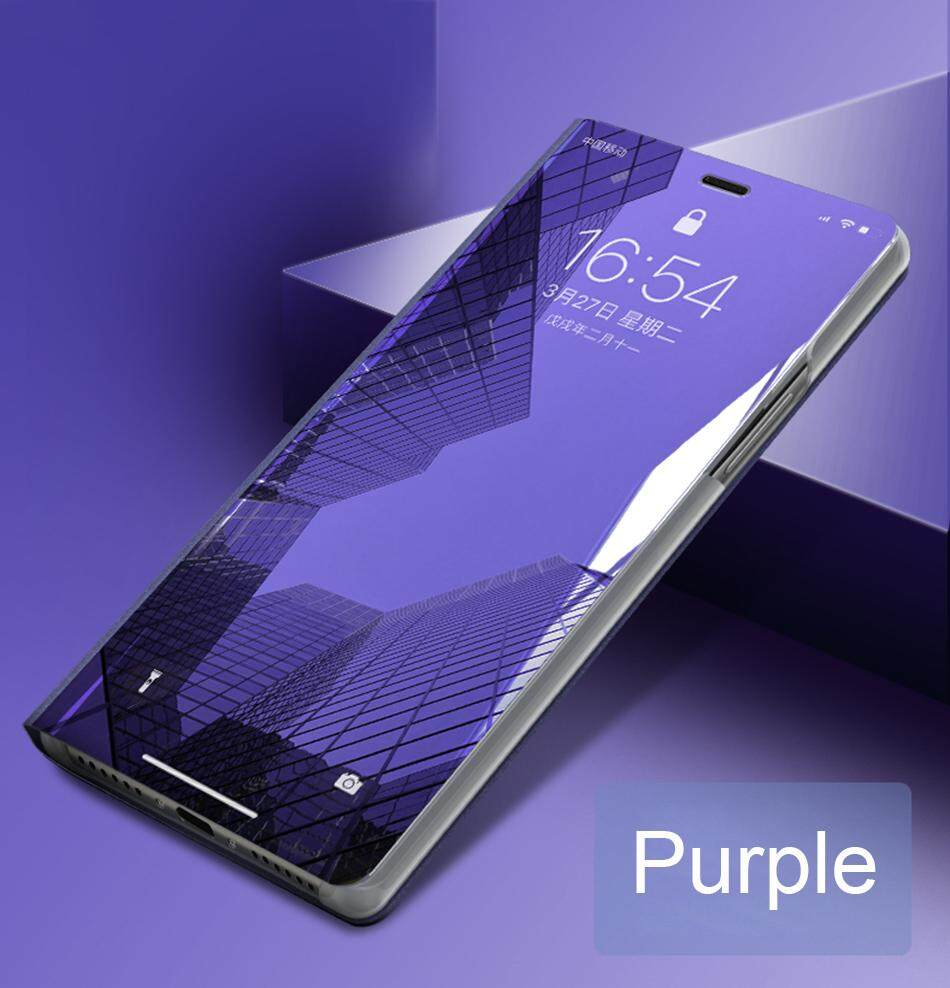 Mewah Cermin Pandangan Jelas Case untuk Samsung Galaxy J6 +/J6 Perdana/J610 Penutup