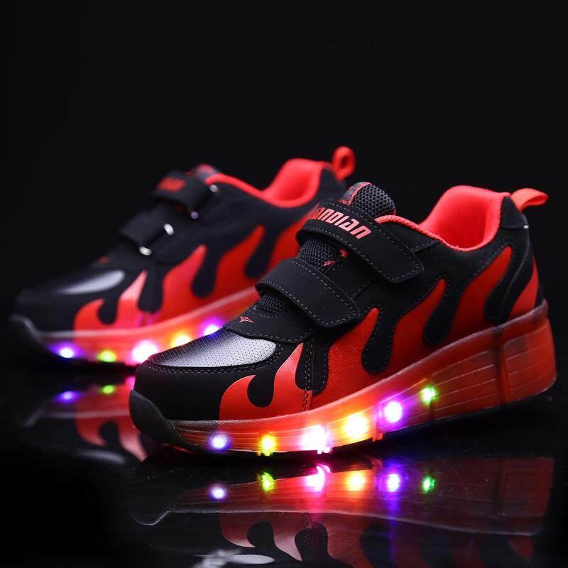Giá bán (Giao Hàng Tốc Độ, Chất Lượng Tốt) Giày Cao Gót LED Nhiều Màu, Giày Trượt Ván Nhẹ Cho Bé Trai Và Bé Gái-Một Bánh